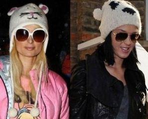 Вязаная шапка-панда