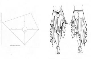 как сшить юбку со шлейфом
