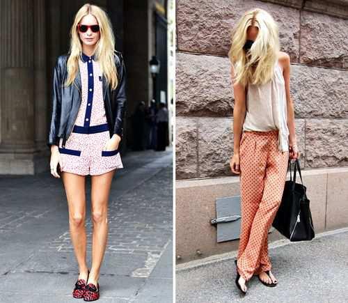 Тенденции весна-лето 2012 – Пижамы на всех улицах города!