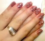 Рисунки на ногтях иголкой. Урок 3