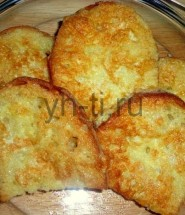 Вкусные гренки: фото-рецепт