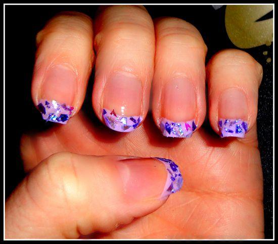 дизайн ногтей со слюдой: