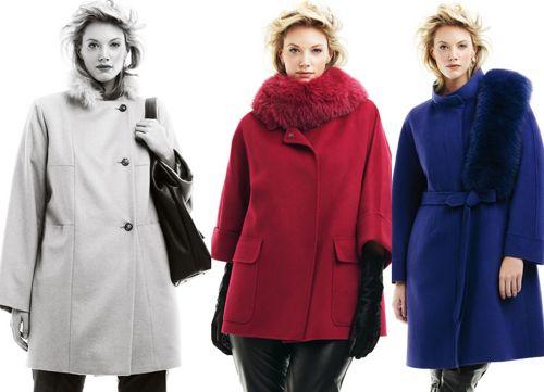 стильные пальто для полных девушек