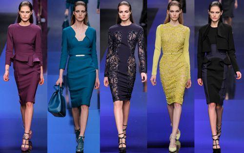 Модные платья-футляры 2014