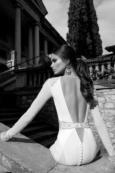 Кружево и открытая спина - отличительная особенность платьев Berta Bridal