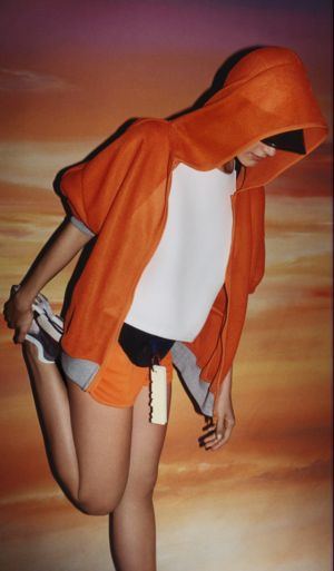 Олимпийка Адидас оранжевая