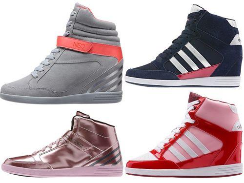 Кроссовке на танкетке Adidas