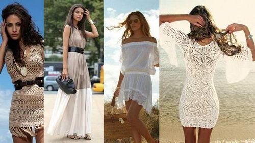 платья из кружева и прозрачных тканей