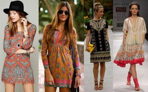 платья в этническом стиле