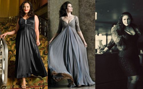 Красивые вечерние платья для полных девушек