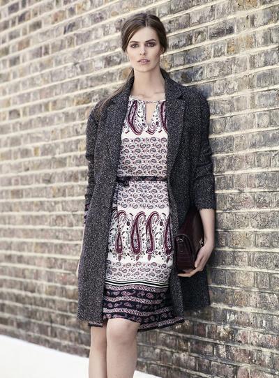 Платье и пальто Violeta by MANGO