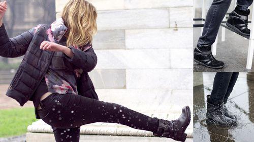 Куртка, джинсы, ботинки и кеды на танкетке MR