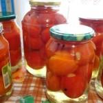 Соленые помидоры с чесноком: рецепт без стерилизации
