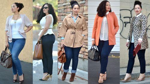 Как носить джинсы полным девушкам