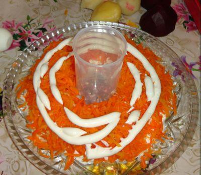 Второй слой - морковь