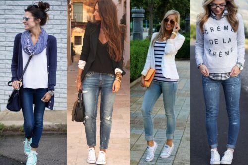 Конверсы с джинсами