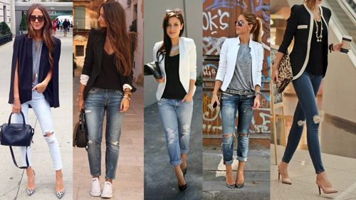 С рваными джинсами