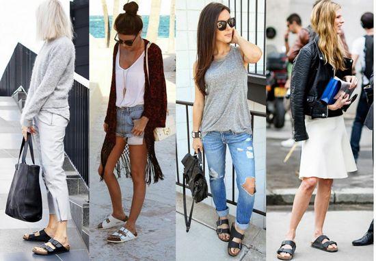 С чем носить сандалии-биркенштоки
