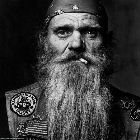 Байкер и его борода