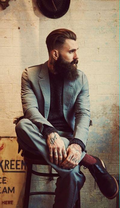 Хипстерская стрижка и борода