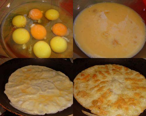 Блины яичные для салата рецепт
