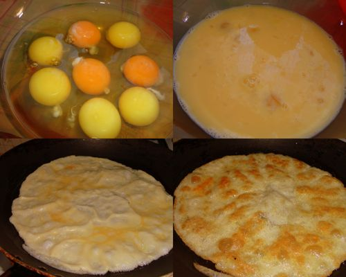 Готовим блинчики из яиц