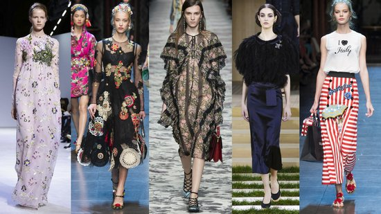 Giambattista Valli, Dolce & Gabbana, Chanel, Gucci