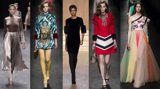 Valentino, Gucci, Givenchy