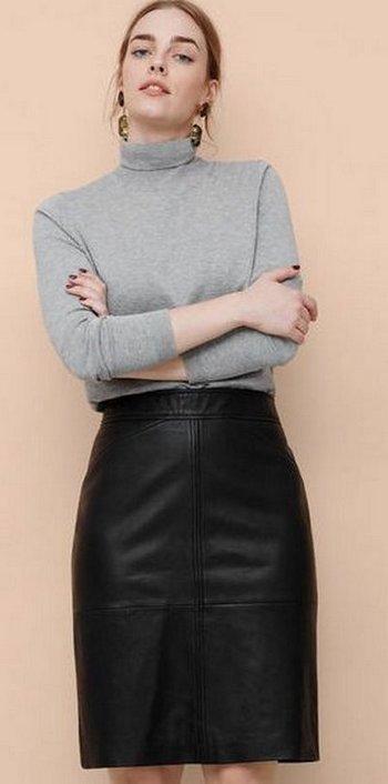 Кожаная юбка 8999 руб