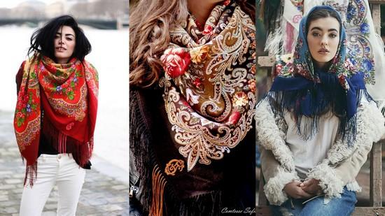 Модные платки и шарфы 2017