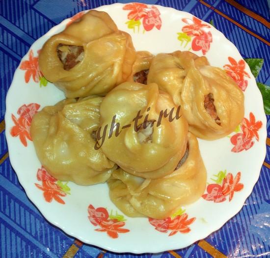 Манты из тыквы с фаршем рецепт с фото
