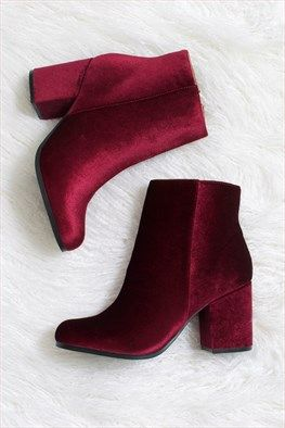 Ankle boots вельвет