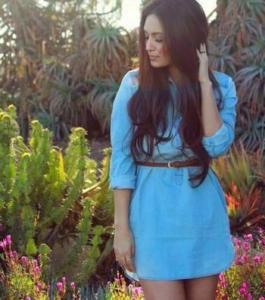 В моде голубой деним