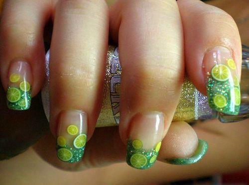 Акриловые ногти с фимо
