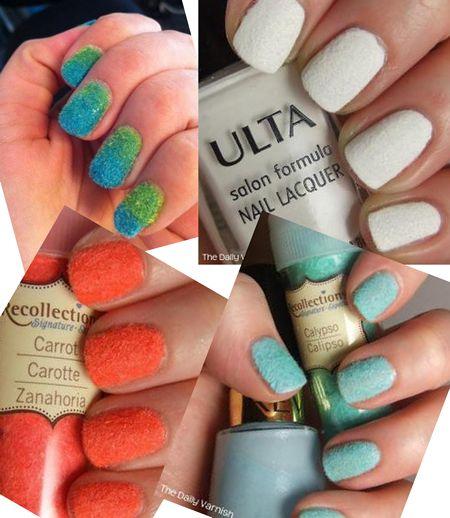 Цветной велюр на ногтях