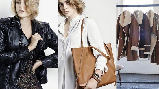 Куртка-косуха, дубленки и сумка