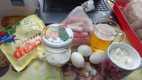 Ингредиенты для крабовых палочек в кляре