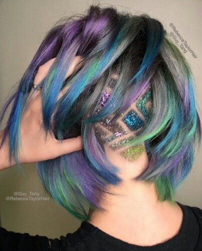 Glitter-Undercut-Tattoo