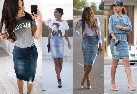 """""""Карандаш"""" с футболками и джинсовыми рубашками"""