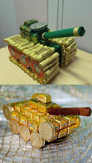 Танки из конфет